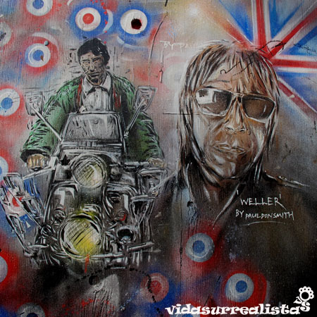 "Referencia a la peli basada en el album Quadrophenia, de The Who: http://www.quadrophenia.net. Ilustraci'on de Paul ""don"" Smith."