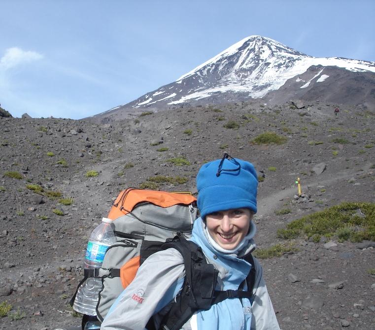 Lista para el ascenso del Volcán Lanín, Argentina