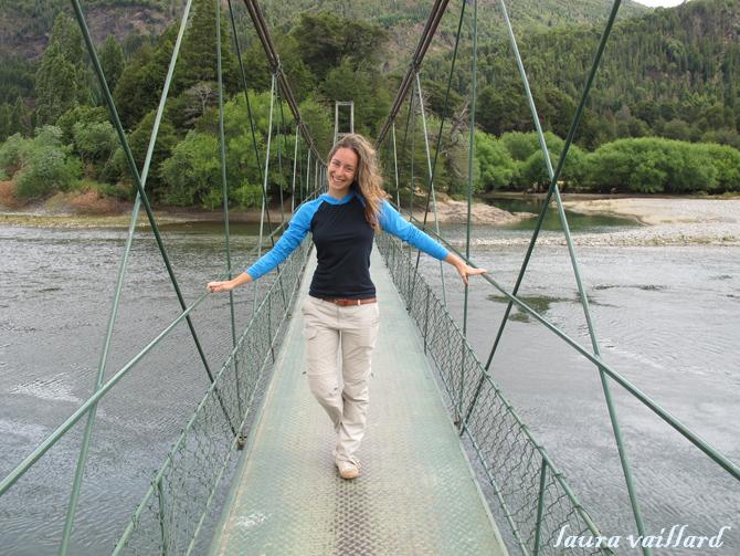 Laura sobre la pasarela