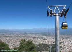 Vista de Salta desde el teleférico del Cerro San Bernardo