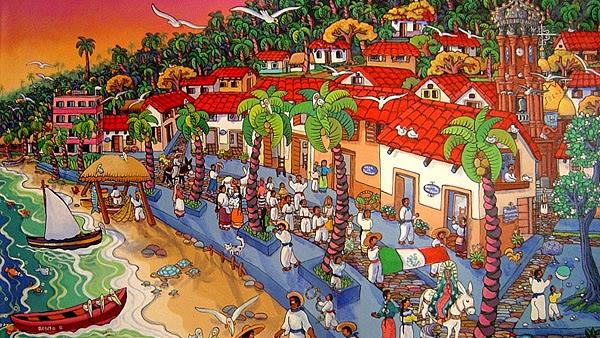 Obra de Manuel Lepe que exhibe el Malecón de Puerto Vallarta