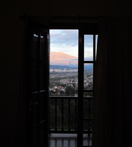Vista desde las habitaciones del hotel